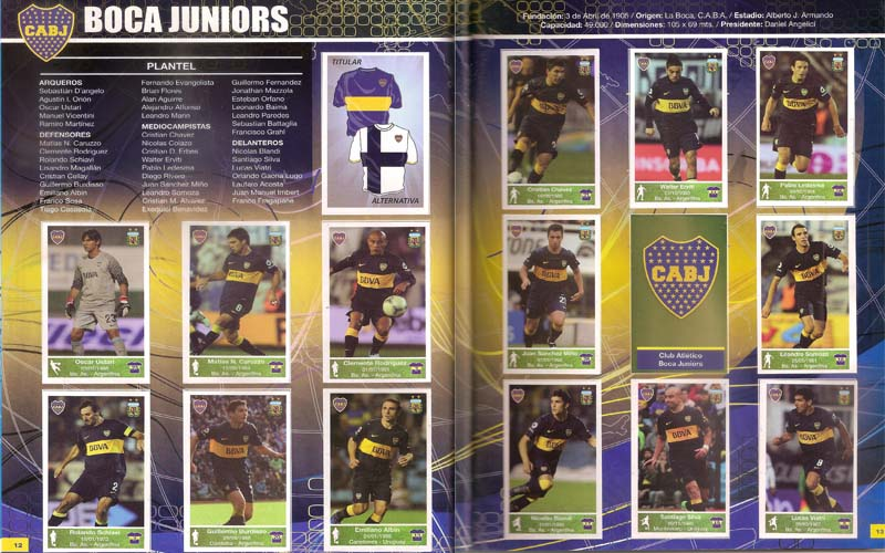 Boca Juniors team page