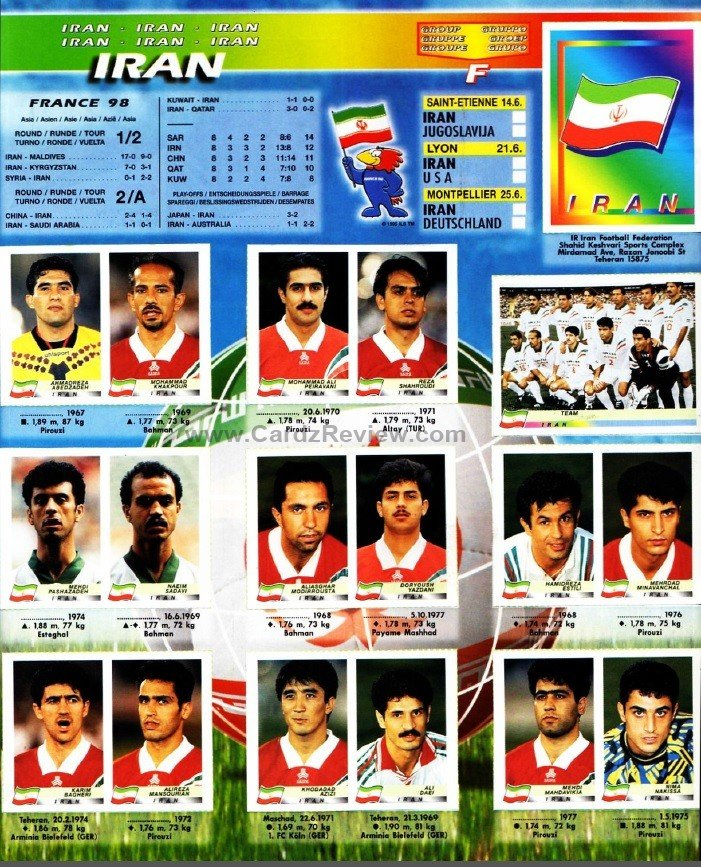 Panini France 98 Official Sticker album book 11