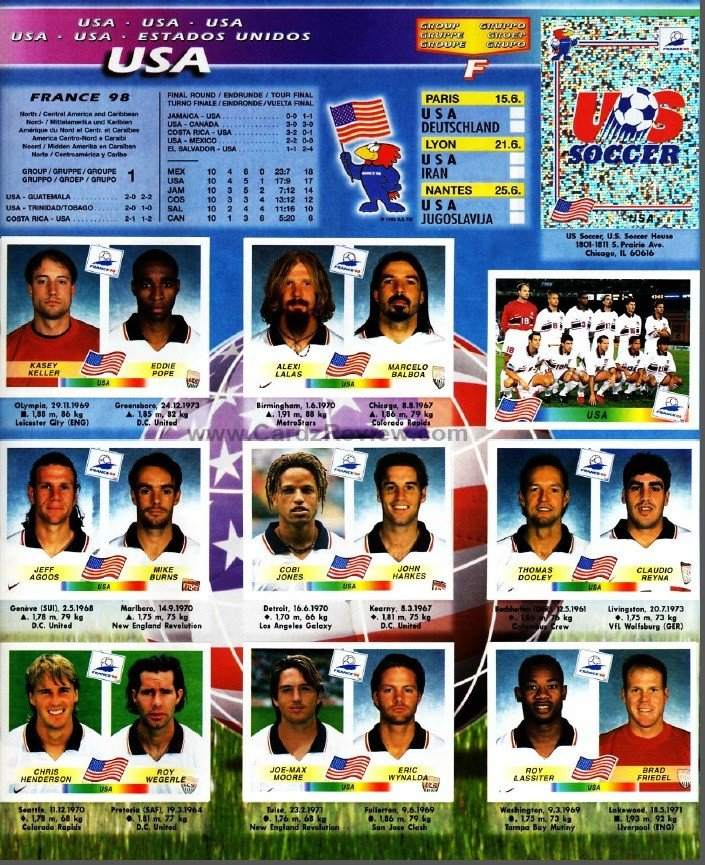 Panini France 98 Official Sticker album book 12