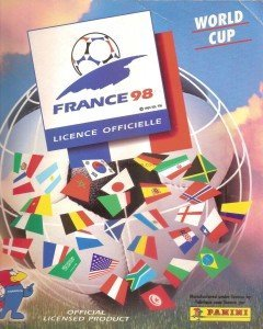 Panini France 98 Official Sticker album book