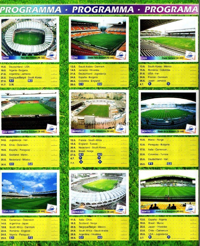 Panini France 98 Official Sticker album book 4