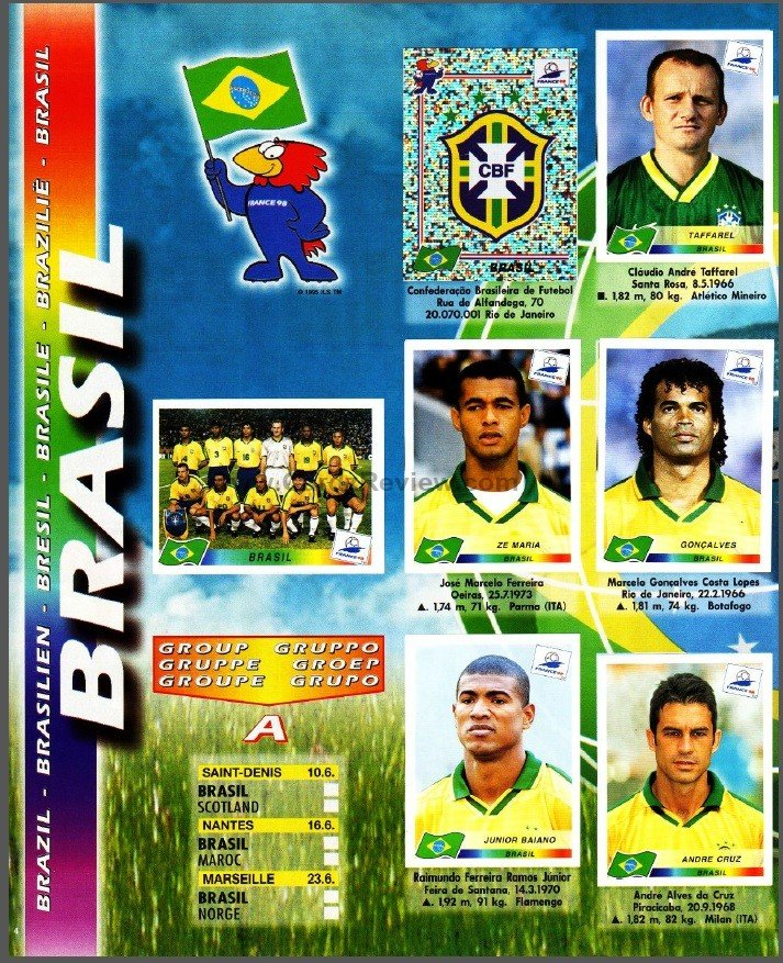 Panini France 98 Official Sticker album book 5