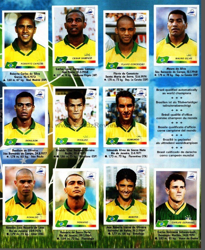 Panini France 98 Official Sticker album book 6