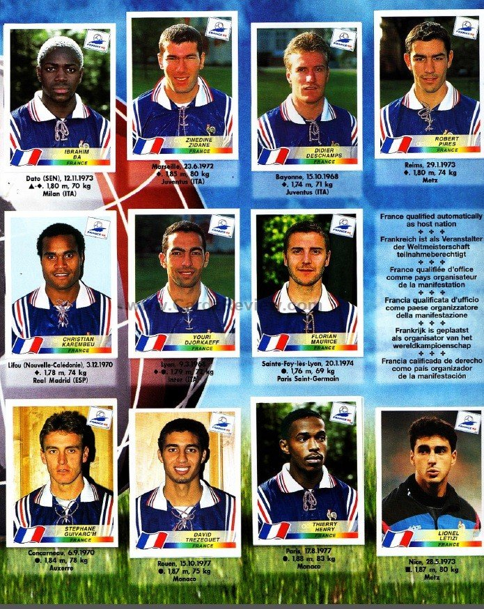 Panini France 98 Official Sticker album book 8