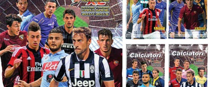 Binder and booster packs of Calciatori Panini XL Adrenalyn 14-15 collection