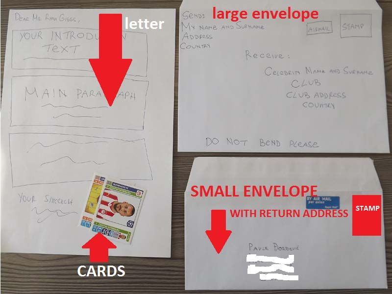 LOR  Letter of request  Cards Large envelope and SASE  Smaller one VxkOvX33