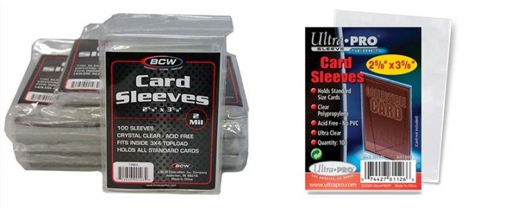 Soft Sleeves Ultra Pro and BCW 100