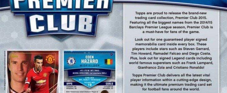 Topps Premier Club 2015 Barclays League