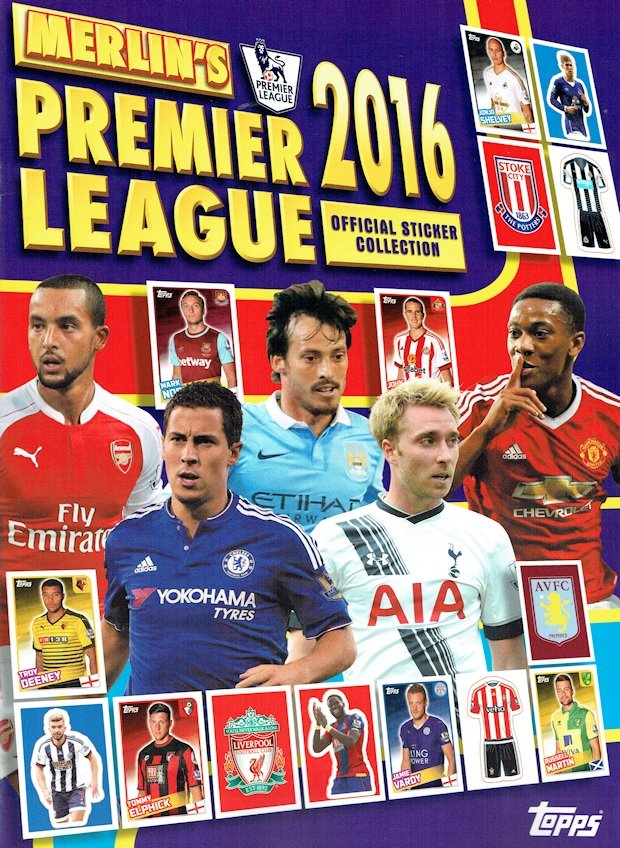 MERLIN'S PREMIER LEAGUE 2016 OFFICIAL STICKER COLLECTION BY TOPPS