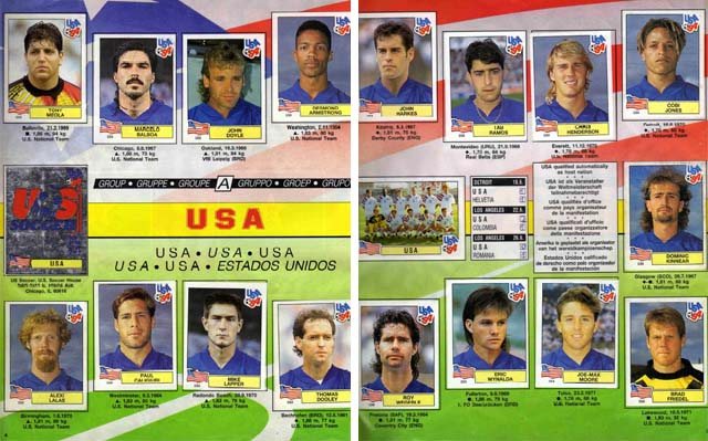 Panini USA 94 World Cup 1994 Official Sticker Album