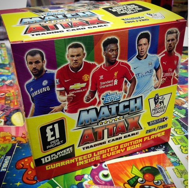 Topps match attax 2014 2015 trading card game coming in for Best cards of 2015