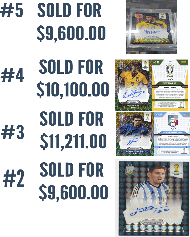 100 best selling panini world cup soccer cards and for Best cards for 2015