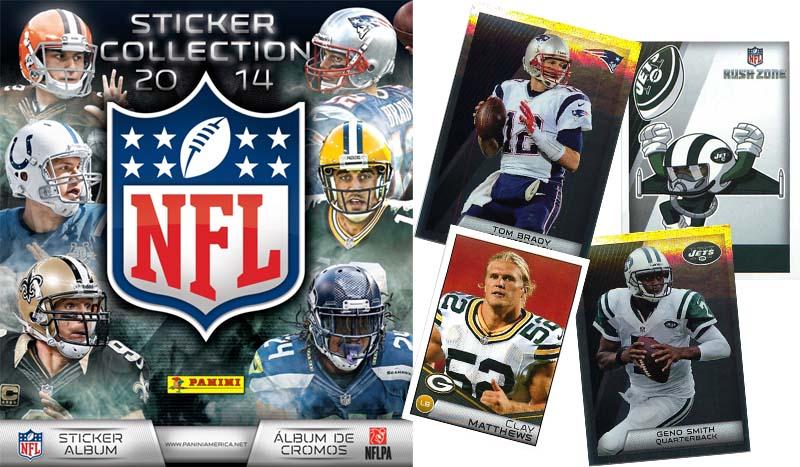 2014 Panini NFL Sticker Collection Album + free checklist