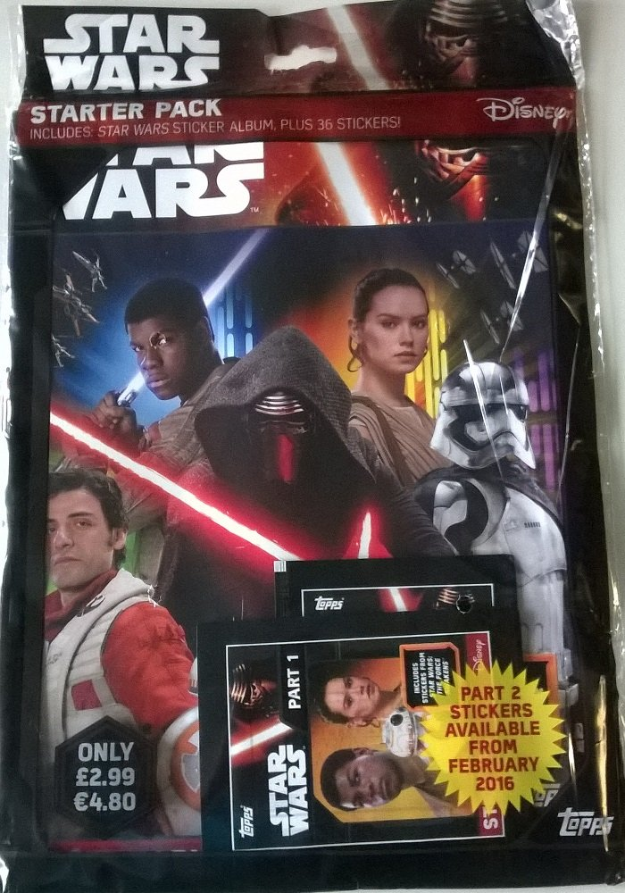STAR WARS THE FORCE AWAKEN TOPPS  TRADING CARDS STARTER PACK Edition Fr