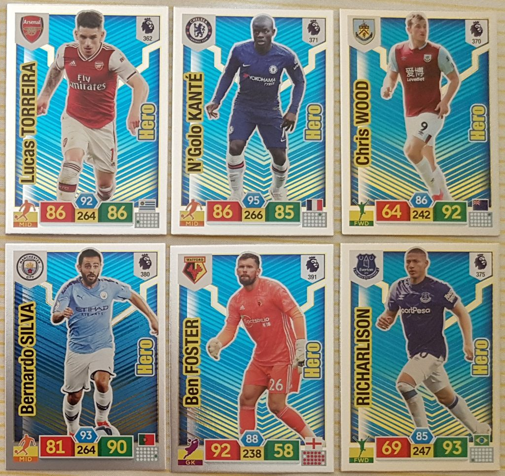 Lot 64 set base cards UPDATE ADRENALYN FIFA 365 PANINI 2019